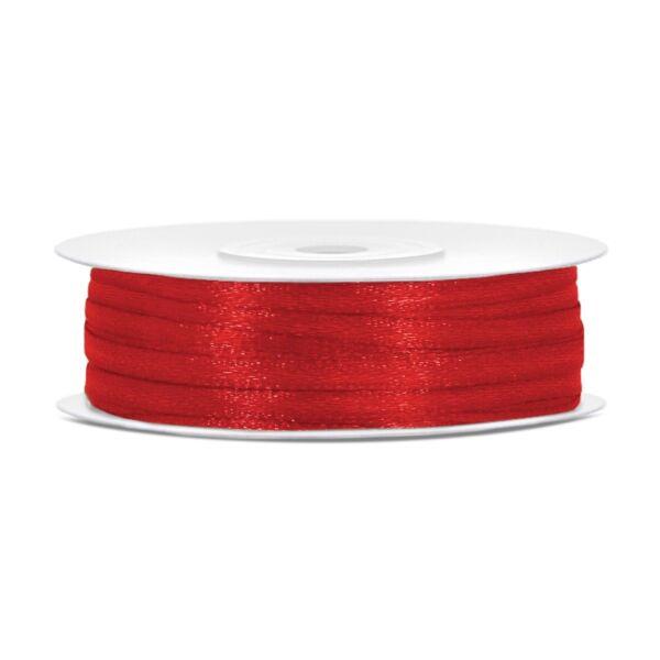 Piros szatén szalag 3 mm x 50 m