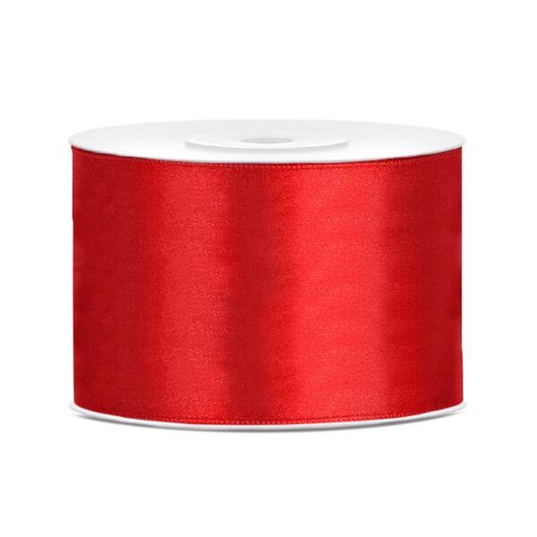 Piros szatén szalag 5 cm x 25 m