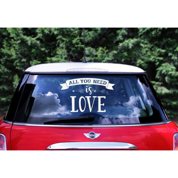 All you need is love autodekor matrica