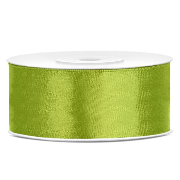 Almazöld szatén szalag 25mm x 25m