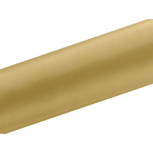 Arany szatén futó 16 cm x 9 m