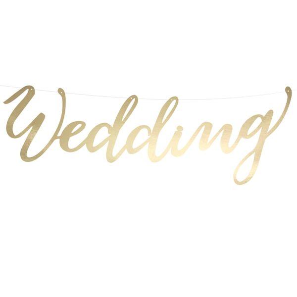Arany wedding felirat
