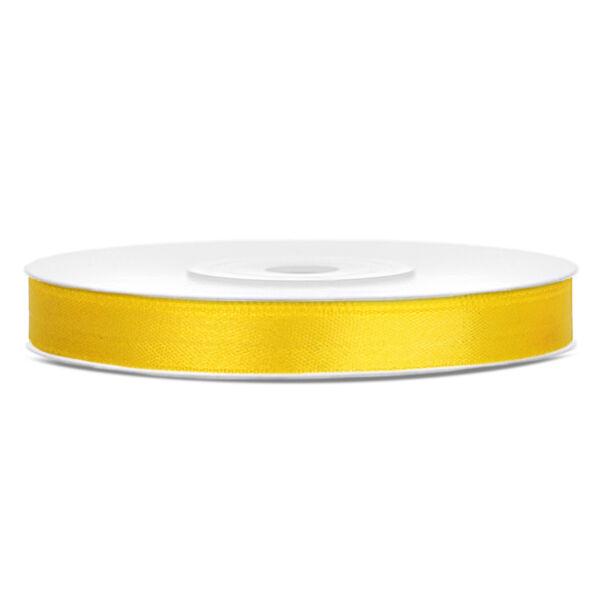 Citromsárga szatén szalag 6mm x 25m