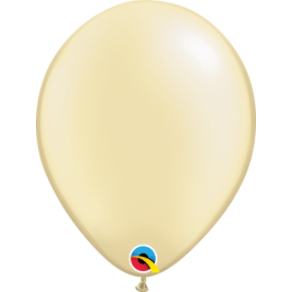 Ekrü gyöngyházas qualatex lufi 28 cm