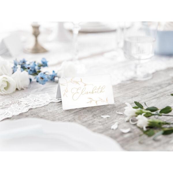 Elegáns arany ágacskás esküvői ültetőkártya