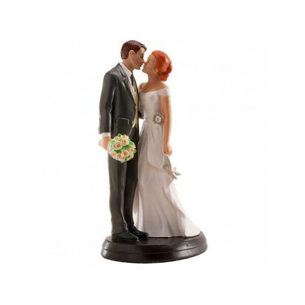 Elegáns csokros esküvői tortadísz