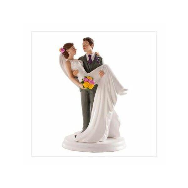 Elegáns ölbekapós esküvői tortadísz