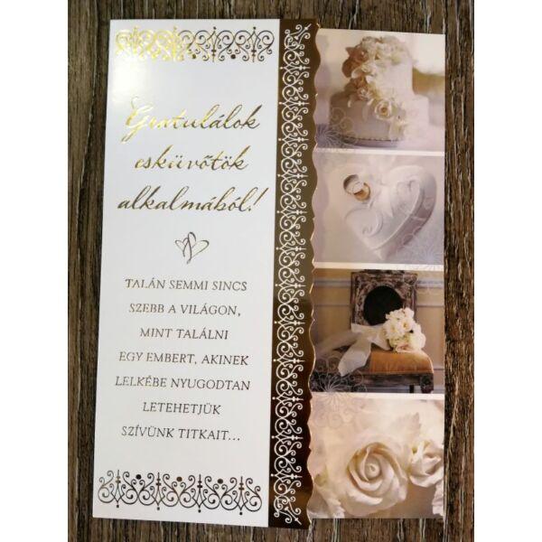 Esküvői kellékes gratulációs képeslap