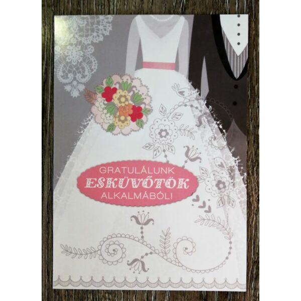 Esküvői pár gratulációs képeslap