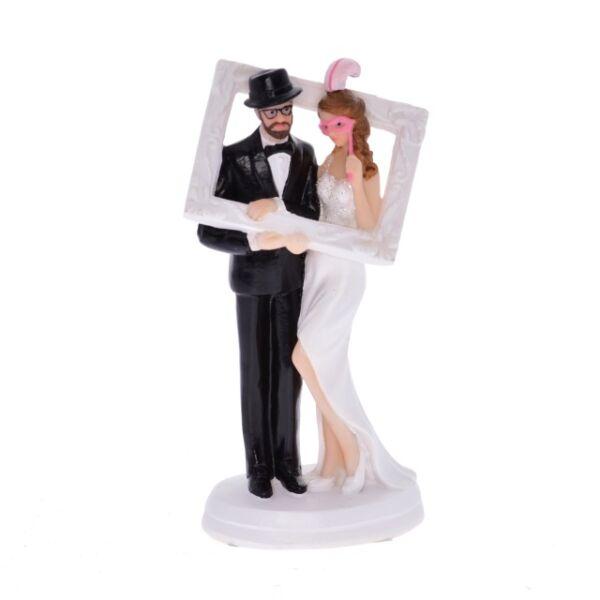 Esküvői nászpár képkerettel