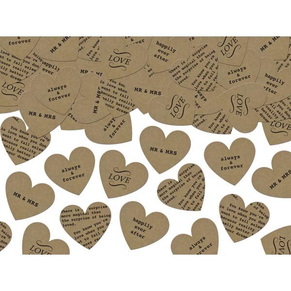 Esküvői feliratos papír konfetti