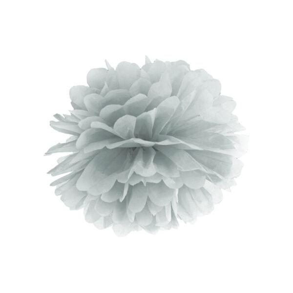 Ezüst selyempapír pompom