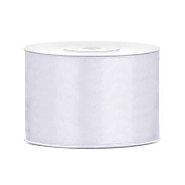 Fehér szatén szalag 5cm x 25m