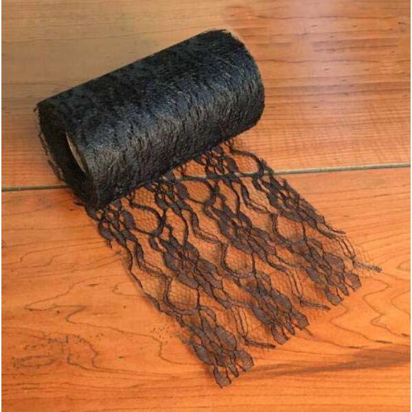 Fekete csipke szalag 9-11 cm x 9 m