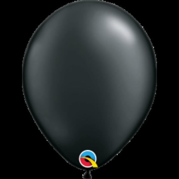 Fekete gyöngyházas qualatex lufi 28 cm