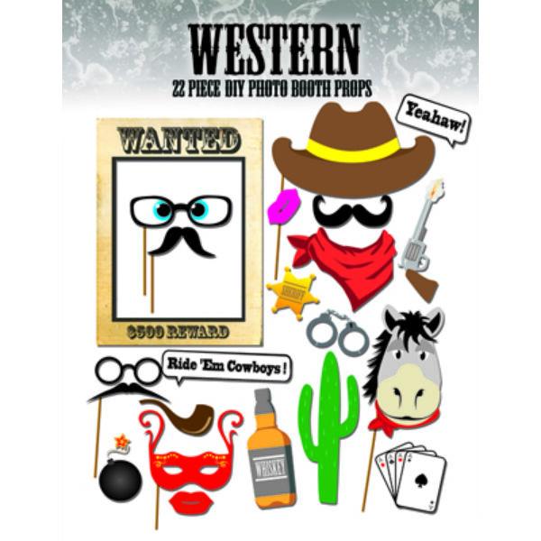 Fotósarok kellékek western témában