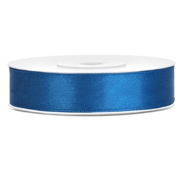 Kék szatén szalag 12mm x 25 m