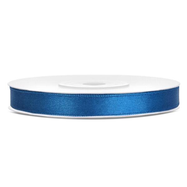 Kék szatén szalag 6mm x 25m