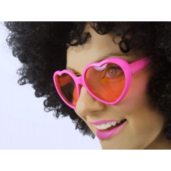 Rózsaszín szív szemüveg kicsi
