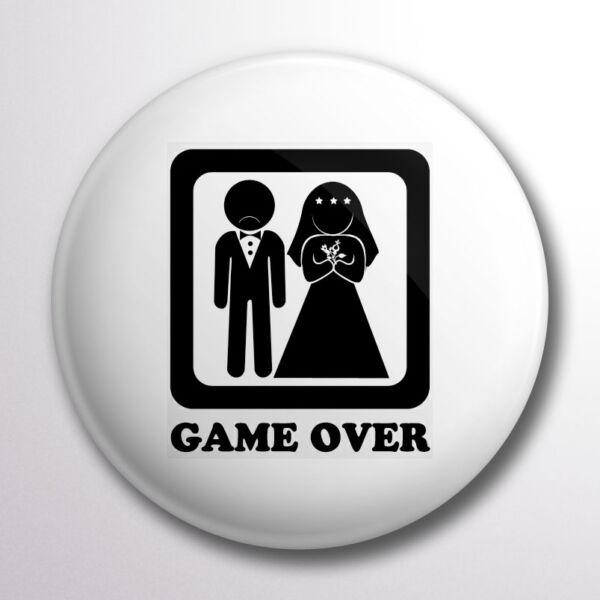 Game over kitűző fehér