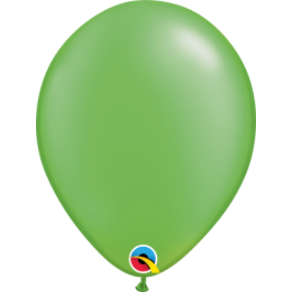 Lime zöld gyöngyházas qualatex lufi 28 cm