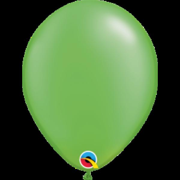 Lime zöld gyöngyházas héliumos lufi
