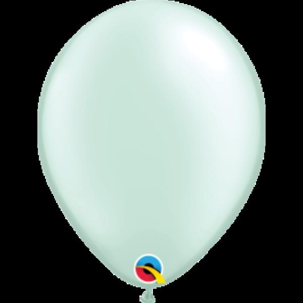 Menta zöld gyöngyházas héliumos lufi