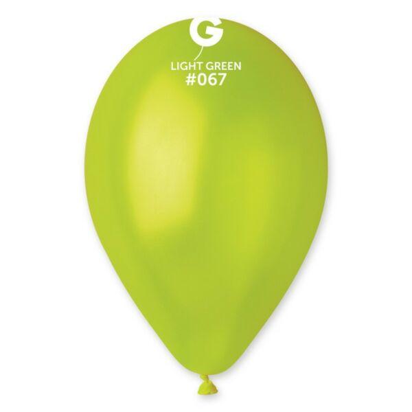 Lime zöld lufi, metál 28 cm