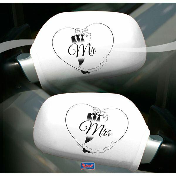 Mr és Mrs visszapillantó dekoráció