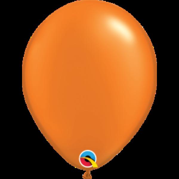 Narancs gyöngyházas qualatex lufi 28 cm
