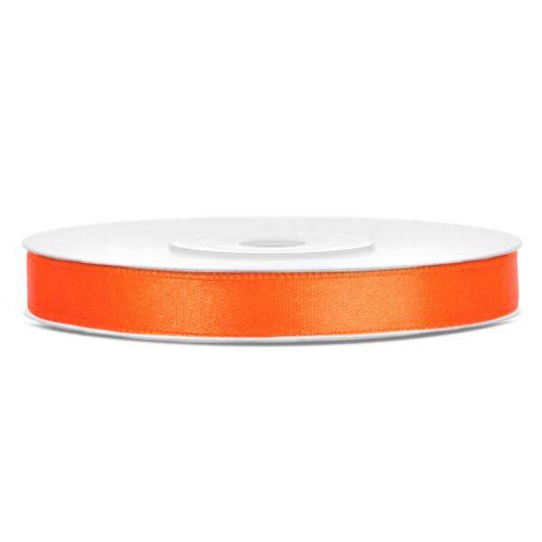 Narancs szatén szalag 6mm x 25m