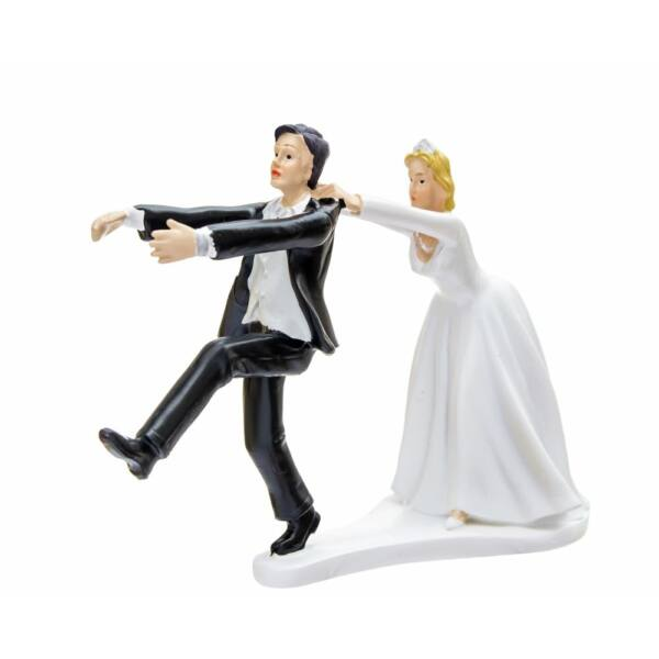 Ne menekülj esküvői tortadísz