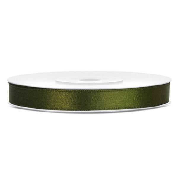 Olivazöld szatén szalag 6mm x 25m