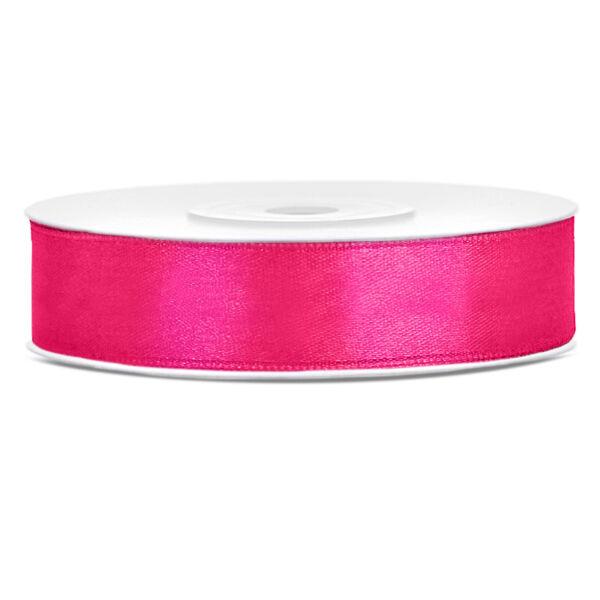 Pink szatén szalag 12mm x 25m