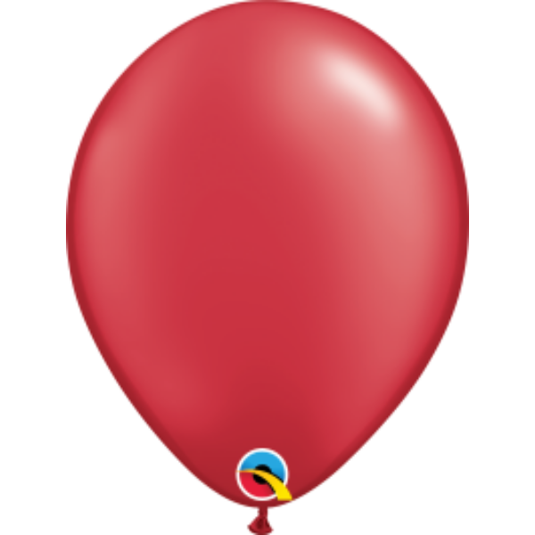 Piros gyöngyházas héliumos lufi