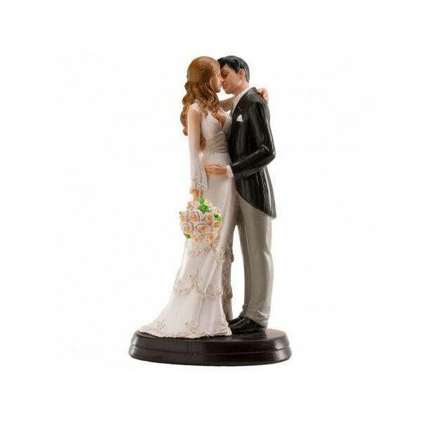 Romantikus össszebújós esküvői tortadísz