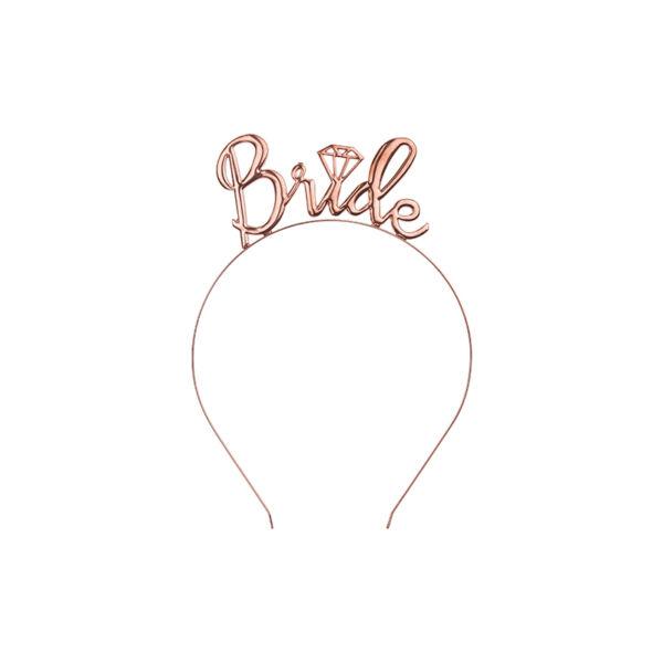 Rose gold bride lánybúcsú hajpánt