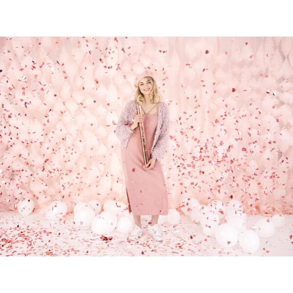 Rose gold szíves konfetti ágyú 60 cm
