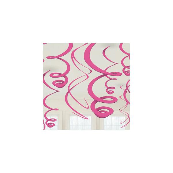 Rózsaszín spirál függő dísz