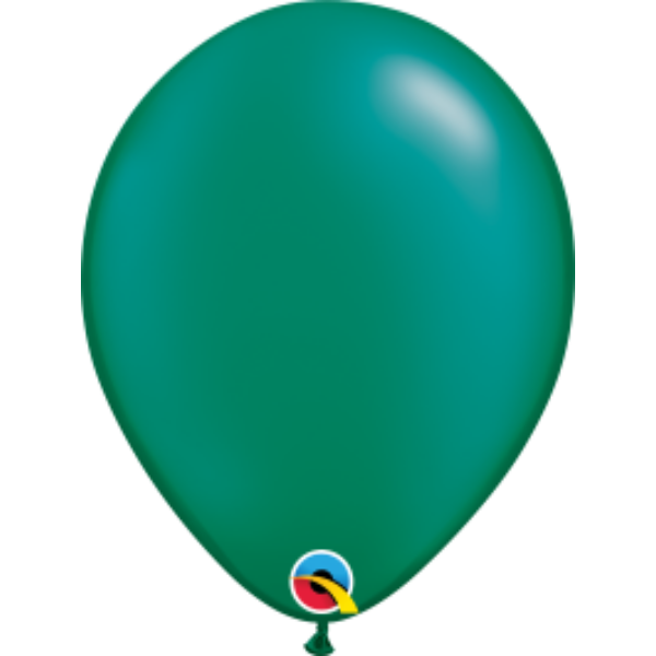 Sötétzöld gyöngyházas héliumos lufi
