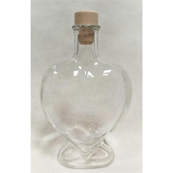 Szív üveg 0,5 literes