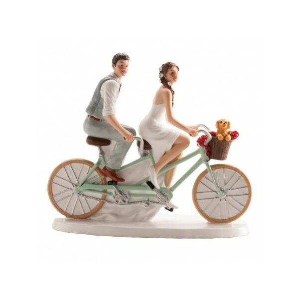 Tandem biciklis esküvői tortadísz