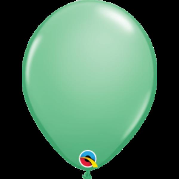 Téli zöld lufi qualatex 28 cm