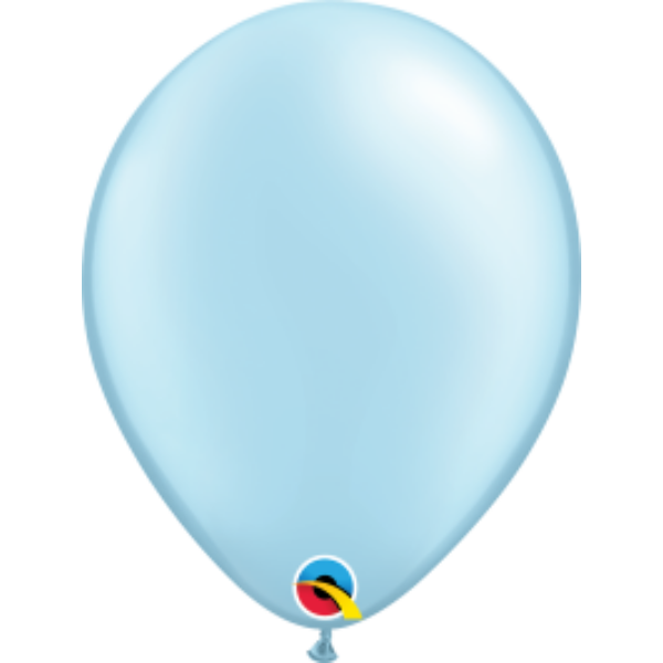Világoskék gyöngyházas héliumos lufi